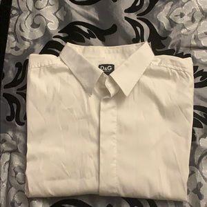 Dolce & Gabanna (authentic) Men White Dress Shirt